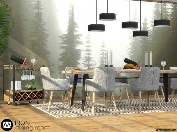 The Sims Resource Iron Diningroom By Wondymoon Sims 4