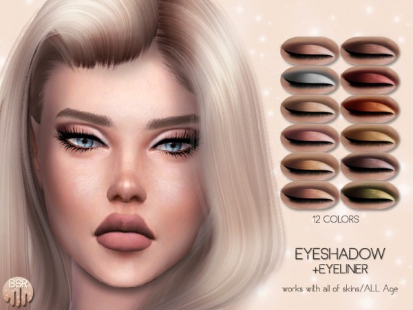 The Sims Resource: Eyeshadow BS02 by busra tr