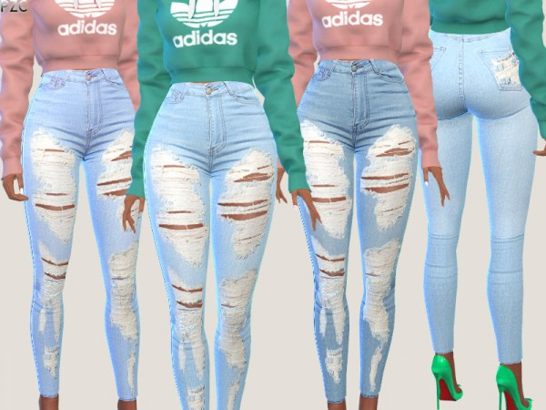 The Sims Resource: Serenity Denim Jeans in 2 Versions by Pinkzombiecupcakes