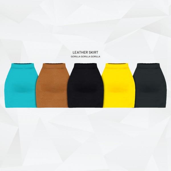 Gorilla: Leather Skirt