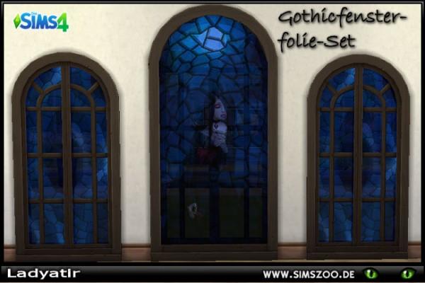 Blackys Sims 4 Zoo: Gothic Windows Set by ladyatir