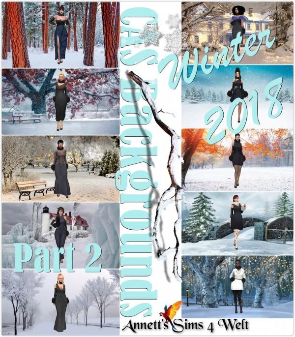 Annett`s Sims 4 Welt: CAS Backgrounds   Winter 2018   Part 2