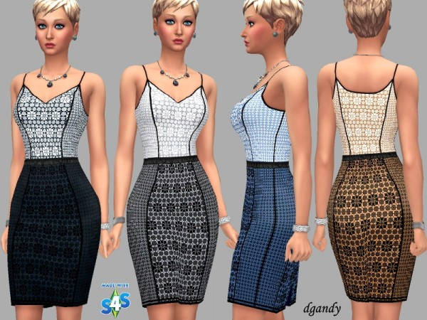 The Sims Resource: Dress Abigail by dgandy