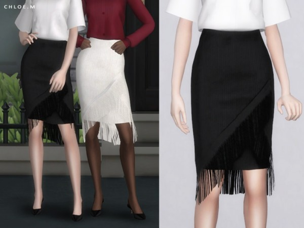 The Sims Resource: Skirt with tassels by ChloeMMM