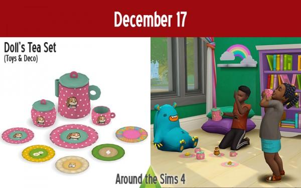 Around The Sims 4: Doll`s Tea Set