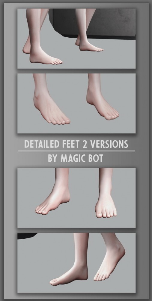 Magic Bot: Detailed feet V.2 3