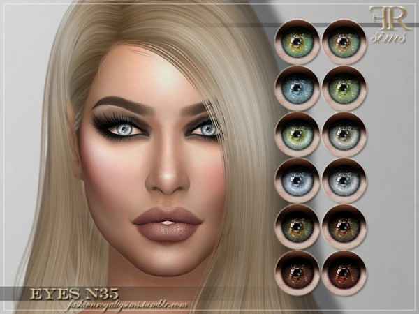 The Sims Resource: Eyes N35 by FashionRoyaltySims