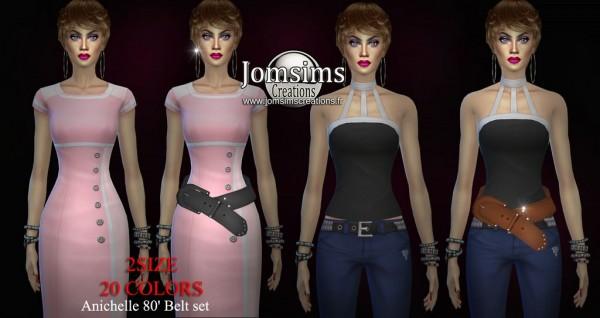 Jom Sims Creations: Anichelle 80  belt set