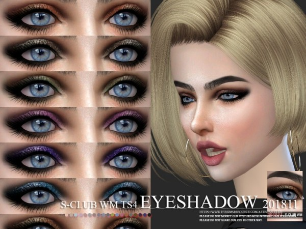 The Sims Resource: Eyeshadow 201811 by S Club