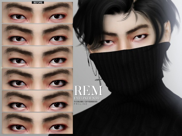 The Sims Resource: Rem Eyeliner N90 by Pralinesims