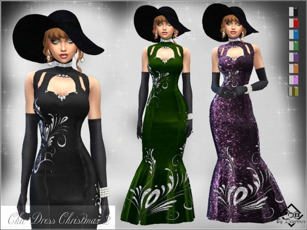 The Sims Resource: Chic Dress Christmas 2 by Devirose