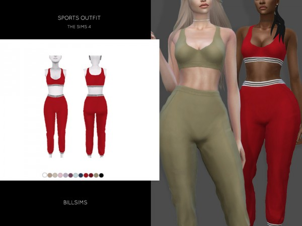 The Sims Resource: Sports Outfit by Bill Sims