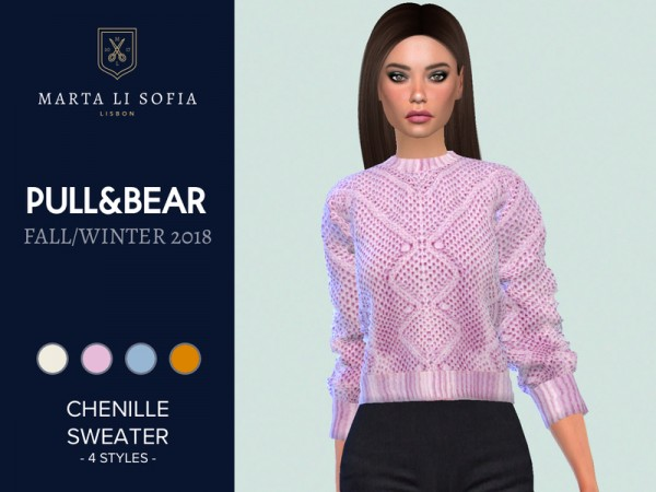 The Sims Resource: Chenille Sweater by martalisofia
