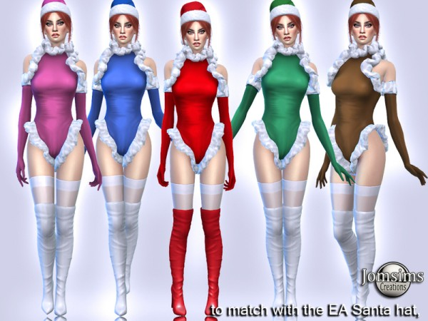The Sims Resource: Ednyi christmas bodysuit by jomsims