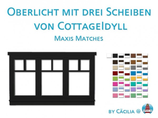 Akisima Sims Blog: Skylight with three slices of Cottage by Cacilia