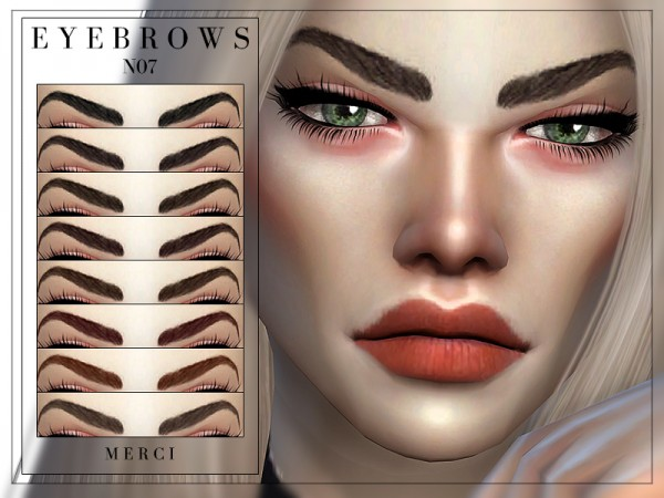 The Sims Resource: Eyebrows N07 by Merci