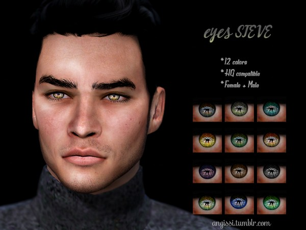 The Sims Resource: Eyes Steve by ANGISSI