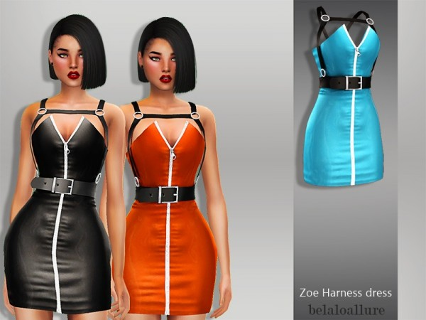 The Sims Resource: Zoe Harness Dress by belal1997