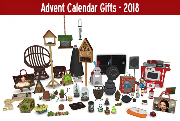 Around The Sims 4: 2018 Advent Calendar Gifts 1