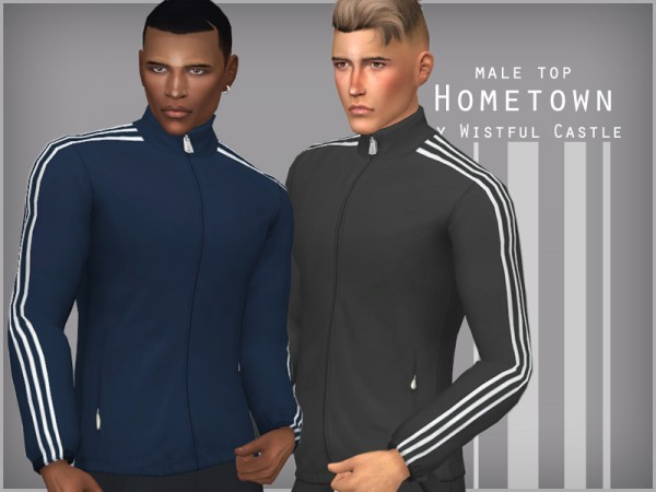 The Sims Resource: Hometown   male top by WistfulCastle