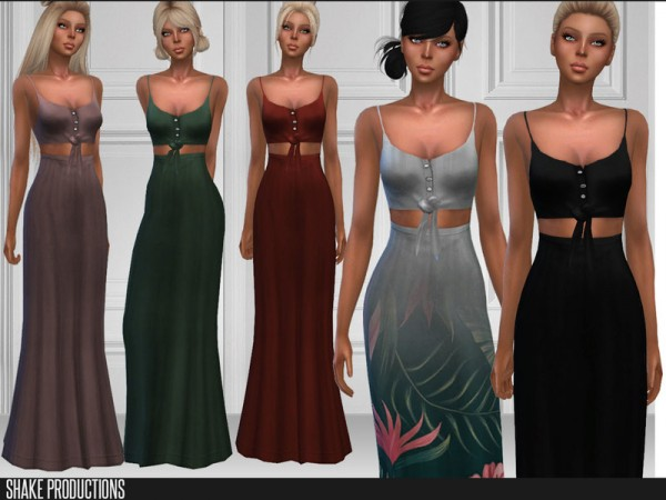 The Sims Resource: 209 Long Dress by ShakeProductions
