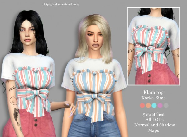 Korka Sims: Klara top