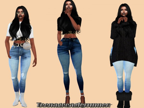 The Sims Resource: Acc Jeans by Teenageeaglerunner