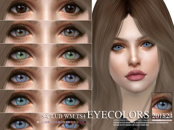 The Sims Resource: Eyecolors 201824 by S Club