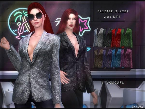 The Sims Resource: Glitter Blazer Jacket by OranosTR