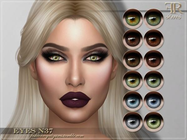 The Sims Resource: Eyes N37 by FashionRoyaltySims