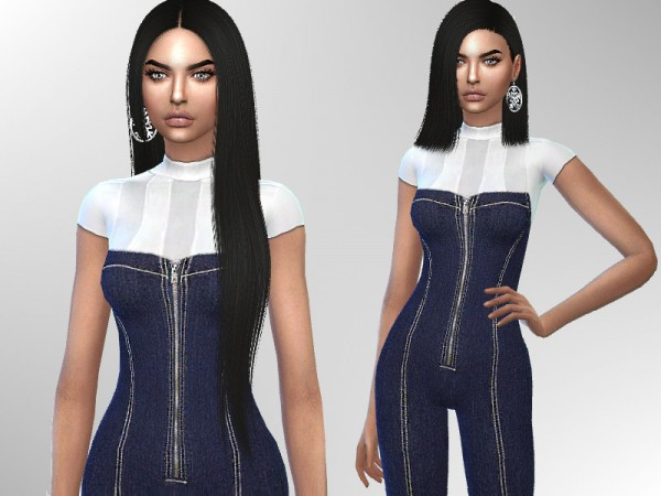 The Sims Resource: Denim Jumpsuit by Puresim
