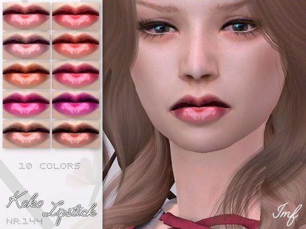 The Sims Resource: Koko Lipstick N.144 by IzzieMcFire