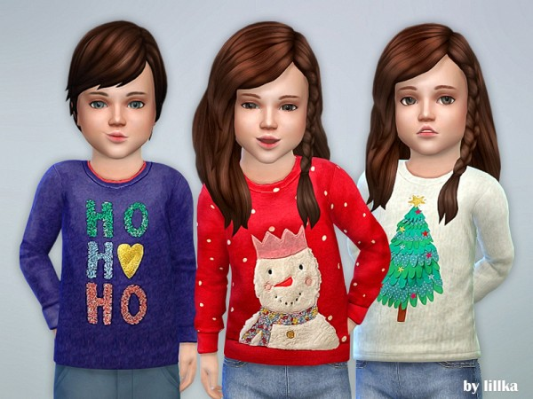 The Sims Resource: Christmas Sweater for Toddler by lillka