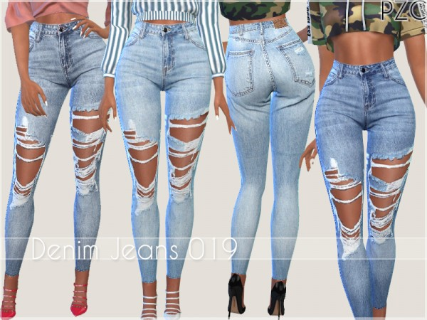 The Sims Resource: Denim Jeans 019 by Pinkzombiecupcakes