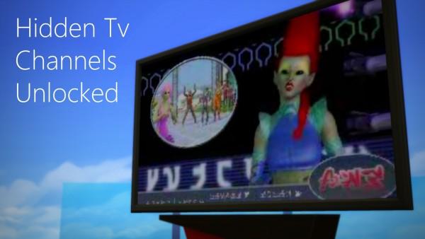 Mod The Sims: Hidden TV Channels Unlocked by mars97m