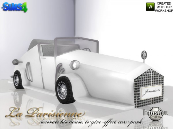 The Sims Resource: Decorative car La Parisienne by jomsims