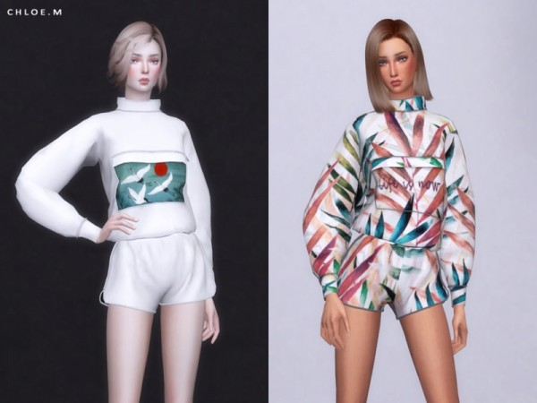 The Sims Resource: Sports Hoodie by ChloeMMM