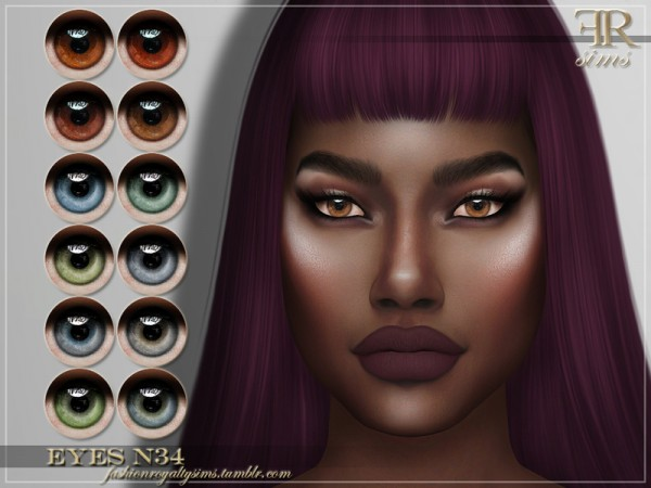 The Sims Resource: Eyes N34 by FashionRoyaltySims