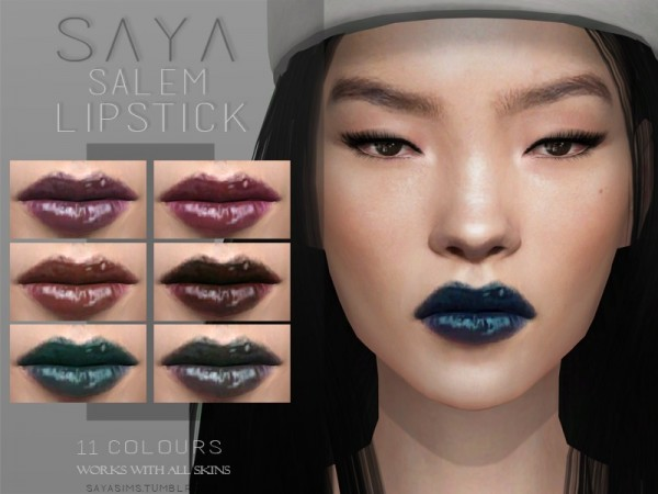 The Sims Resource: Salem Lipstick by SayaSims