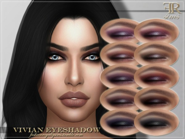 The Sims Resource: Vivian Eyeshadow by FashionRoyaltySims