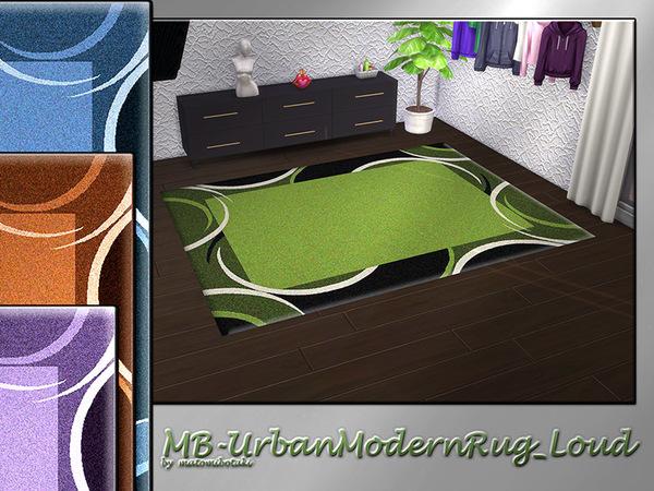 The Sims Resource: Urban Modern Rug Loudby by matomibotaki