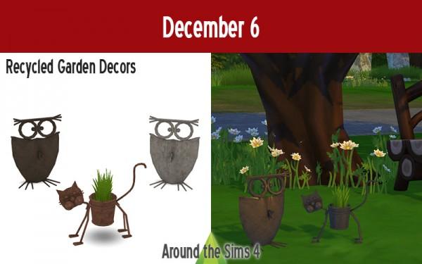 Around The Sims 4: Recyled Garden decor