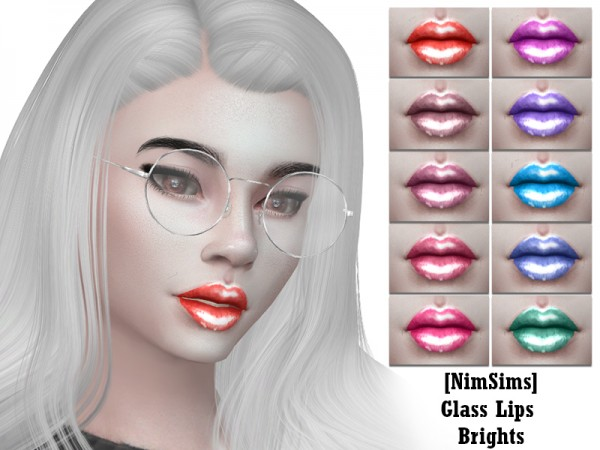 The Sims Resource: Glass Lips Brights by Nimil