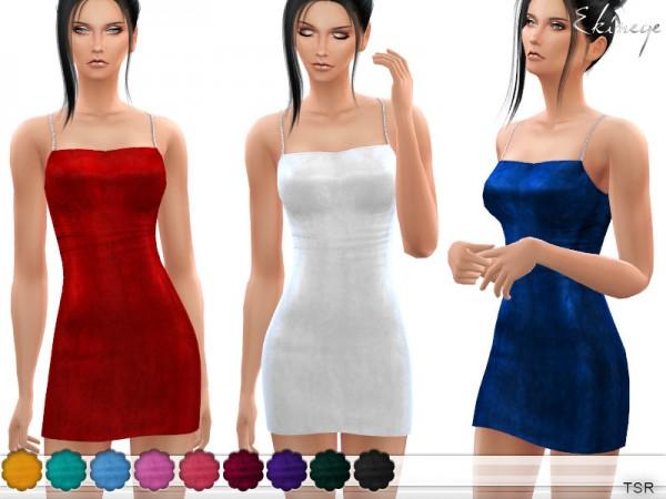 The Sims Resource: Velvet Mini Dress by ekinege