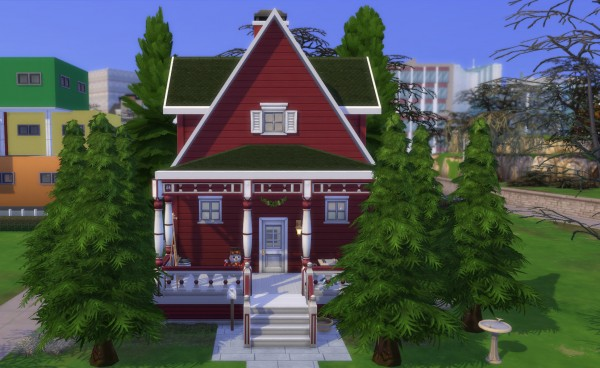 Mod The Sims: Christmas Cabin by bonensjaak