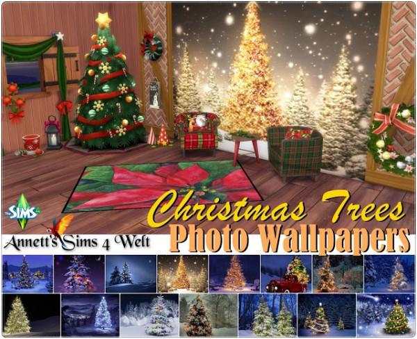 Annett`s Sims 4 Welt: Photo Wallpapers Christmas Trees