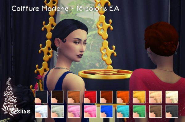 Sims Artists: Marlene Hairstyle