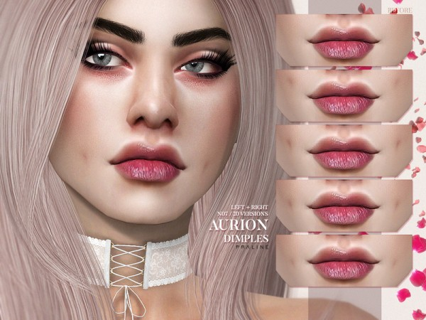 The Sims Resource: Aurion Dimples N07 by Pralinesims