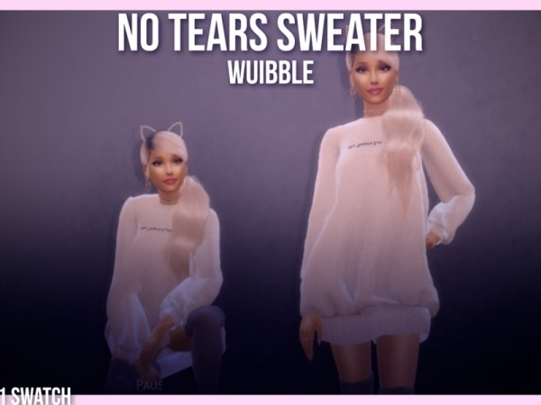 The Sims Resource: No Tears Left To Cry Sweater by x.vibrations