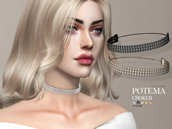 The Sims Resource: Potema Necklace Set by Pralinesims